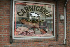 Carniceria Diaz storefront. Image provided by Historical Society of Pennsylvania