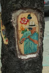 Tree Carvings by Robert Smith Shabazz. Image provided by Historical Society of Pennsylvania