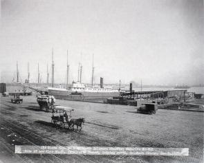 Old Piers Nos. 30 & 32 South Delaware Wharves. Image provided by Historical Society of Pennsylvania