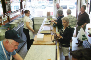 Counter at Fiorella Brothers Sausage. Image provided by Historical Society of Pennsylvania