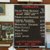 Menu board at Fiorella Brothers Sausage. Image provided by Historical Society of Pennsylvania
