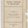 &quot;Housing Conditions in Philadelphia&quot;. Image provided by Historical Society of Pennsylvania