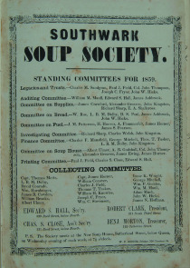 Southwark Soup Society circular. Image provided by Historical Society of Pennsylvania