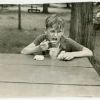 Boy eating soup at Soupy Island Sanitarium. Image provided by Historical Society of Pennsylvania