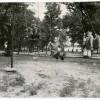Children on swings at Soupy Island Sanitarium. Image provided by Historical Society of Pennsylvania