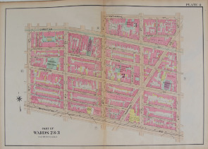 Philadelphia Wards 2 and 3, showing the Ninth Street Market area. Image provided by Historical Society of Pennsylvania