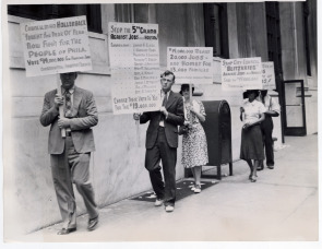 Protest at Councilman Hollenback&#039;s office. Image provided by Historical Society of Pennsylvania