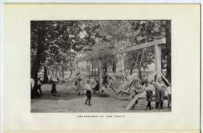 Amusements in the grove. Image provided by Historical Society of Pennsylvania