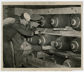 Coast Guard stored Bombs on Hog Island. Image provided by Historical Society of Pennsylvania