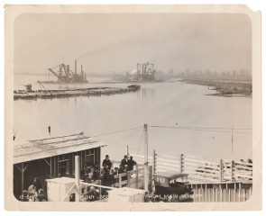 Hog Island--West Basin Section West from Main Wharf. Image provided by Historical Society of Pennsylvania