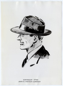 Stetson men&#039;s hat. Image provided by Historical Society of Pennsylvania
