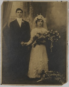 Wedding portrait of Teresa Siciliano and Saverio Celia, May 28, 1913. Image provided by Historical Society of Pennsylvania