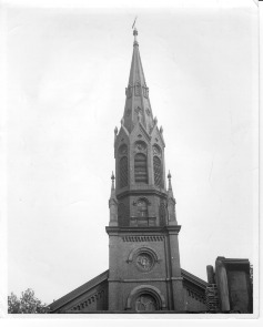Emanuel Evangelical Lutheran Church steeple. Image provided by Emanuel Lutheran Church