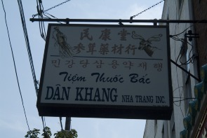 Dan Khang Nha Trang sign. Image provided by Historical Society of Pennsylvania