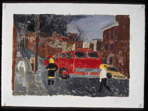 Watching the Fire, American Street. Image provided by Jennifer Baker