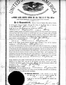 James Esposito&#039;s naturalization papers