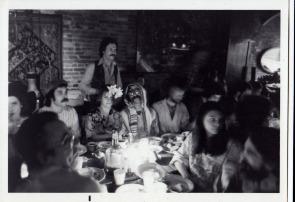 Passover seder at Café Yaaz