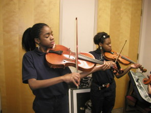 Young students practice at The Clef Club