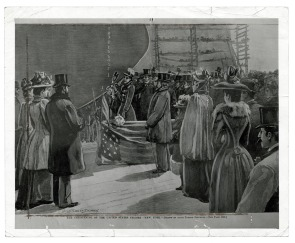 The Christening of the United States Cruiser &quot;New York&quot;. Image provided by Historical Society of Pennsylvania