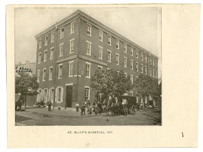 St. Mary's Hospital, 1866. Image provided by Historical Society of Pennsylvania