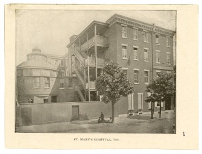 St. Mary's Hospital, 1893. Image provided by Historical Society of Pennsylvania