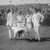 Tilden (left) with 1922 champion U.S. Davis Cup teammates