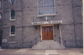 Our Lady of Angels church exterior, circa 2001
