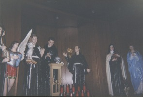 Our Lady of Angels interior with statues, circa 2001