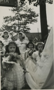 Our Lady of Angels May Procession, circa 1950.