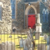 The Red Door of Saint Michael's Lutheran Church