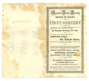 Pierce (Mease) Butler musical programs