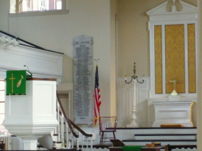 The main sanctuary at St George's Historic Church
