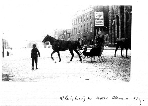 Sleighing on North Broad Street, c.1900